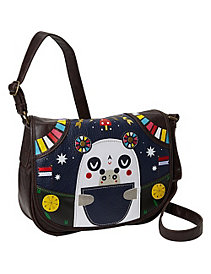 Crowded Teeth Panda-Roo Cross Body Bag by Loungefly