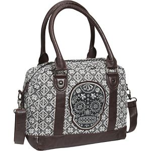 Tweed Sugar Skull Satchel