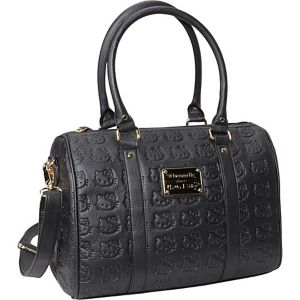 Hello Kitty Embossed Bowler Satchel