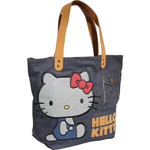 Hello Kitty Vintage Denim Tote