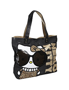 Hello Kitty Leopard with Glasses Tote by Loungefly