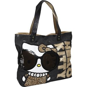 Hello Kitty Leopard with Glasses Tote