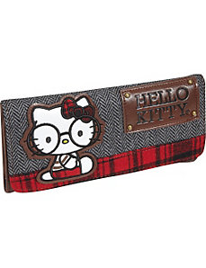 Hello Kitty Tweed Nerds Wallet by Loungefly