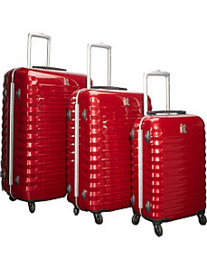 Shiny Vigo 4 Wheeled Framed 3 Piece Luggage Set by IT Luggage