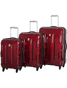 Shiny Victoria 3 Piece Luggage Set by IT Luggage