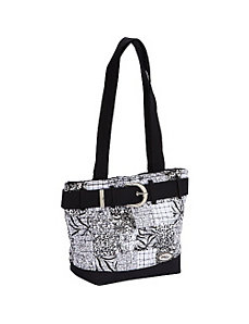 Medium Patched Tote, Salt & Pepper by Donna Sharp