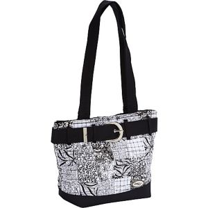 Medium Patched Tote, Salt & Pepper