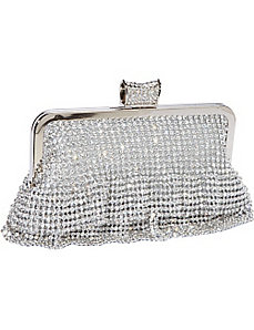 Ruffled Crystal Clutch by J. Furmani