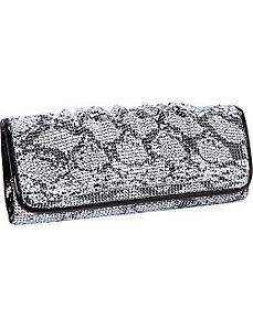 Metal Mesh Print Clutch by J. Furmani