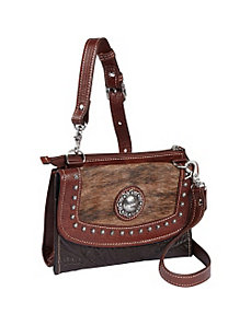 Triple C Small Crossbody Bag/Wallet Combo by American West