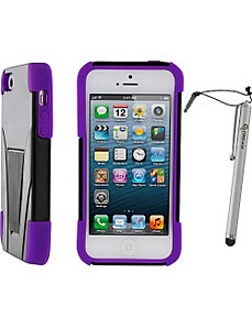 T3 Hybrid Armor Case w/ Stylus for iPhone 5 by rooCASE