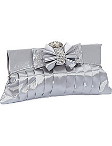 Rhinestone Bow Clutch by J. Furmani