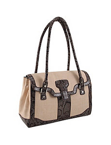 33rd & MAD. Linen Breeze 1/4 Flap Retro Satchel by Koret Handbags