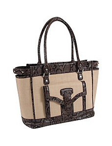 33rd & MAD. Linen Breeze Tote by Koret Handbags