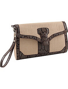 33rd & MAD. Linen Breeze 3-Way Convertible Clutch by Koret Handbags