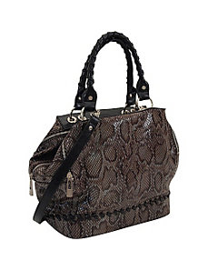 33rd & MAD. Python Print Triple Zip Satchel by Koret Handbags