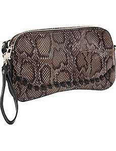 33rd & MAD. Python Print 3-Way Convertible Clutch by Koret Handbags