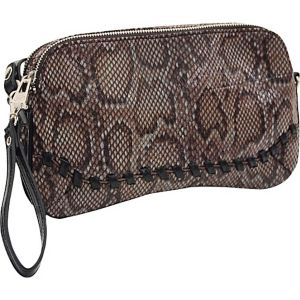 33rd & MAD. Python Print 3-Way Convertible Clutch