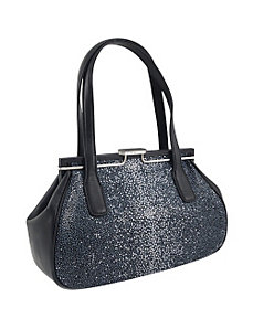 Stingray Embossed Leather Snap Double Handle Satch by Koret Handbags