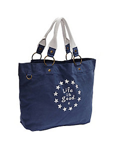Latitude Tote LIG Stars, True Blue by Life is good