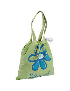 Drawstring Tote Daisy, Apple Green by Life is good
