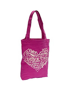Simple Canvas Tote Love, Hot Fuchsia by Life is good