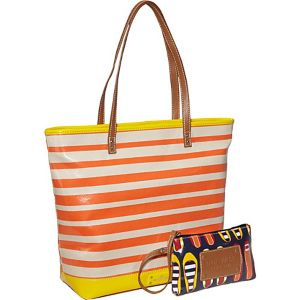 Can't Stop Shopper Large Tall Top Zip Tote