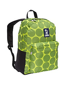 Big Dots Green Tag-Along Backpack by Wildkin