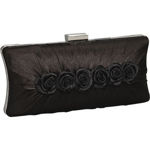 Satin Rose Pillow Box Clutch