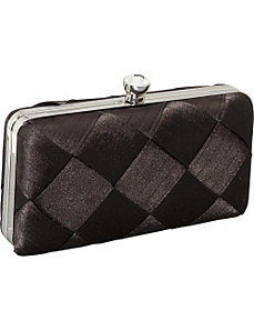 Large Weave Satin Box Clutch by Magid