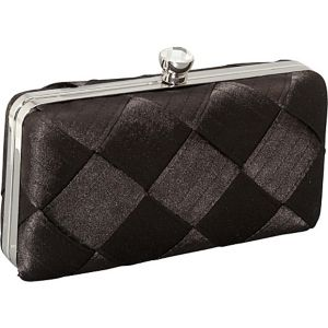 Large Weave Satin Box Clutch
