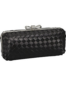 Woven Long Box Clutch by Magid