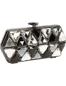 Triangle Crystal Box Clutch by Magid