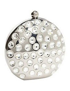 Crystal Round Metal Clutch by Magid