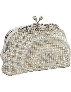 Fancy Crystal Frame Clutch by Magid