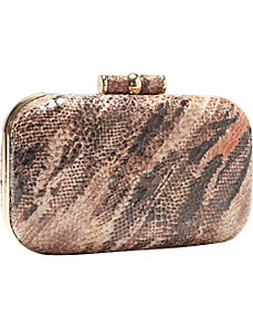 Animal Print Patent Box Clutch by Magid