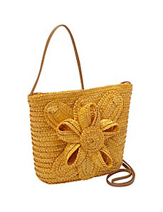 Milan Straw Flower Crossbody by Magid
