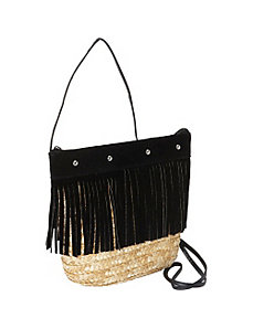 Fringed Milan Straw Crossbody by Magid