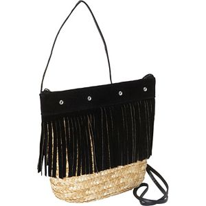 Fringed Milan Straw Crossbody