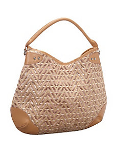 Straw Zig Zag Tapestry Hobo by Magid