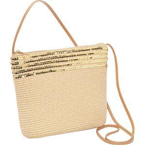Paper Straw Sequin Crossbody Bag