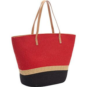 Two Tone Mix Stripe Paper Tote