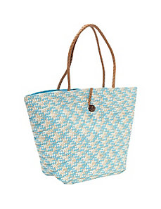 Paper Straw Braided Tote by Magid