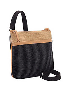 Two-tone Paper Straw Crossbody by Magid