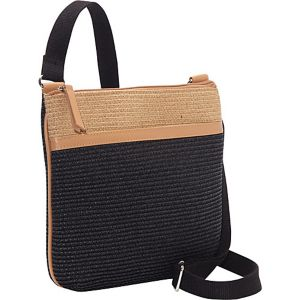 Two-tone Paper Straw Crossbody