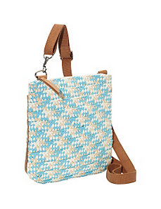 Paper Straw Braided Crossbody by Magid