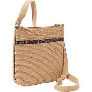 Leopard Trim Paper Crossbody Bag