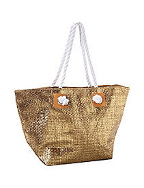 Metallic Paper Value Straw Tote by Magid