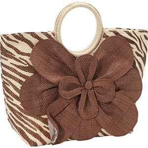Animal Print Paper Value Straw Bracelet Tote