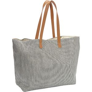 Striped Metallic Paper Straw Value Beach Tote